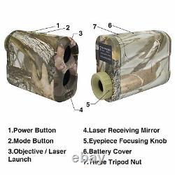 1000Yd Hunting Laser Range Finder 6x Magnification Speed Scan Fog Angle Finder