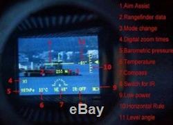 6X32 Infrared Night Vision Digital Laser Rangefinder Monocular Hunting IR