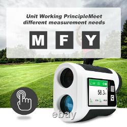 6X Golf Laser Range Finder LED Digital Hunting Rangefinder With Flagpole lock