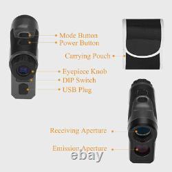6x22 Optical Hunting Laser Range Finder Distance & Speed Monocular Telescope