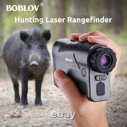 6x Optical 6-1000M Hunting Golf Laser Rangefinder Distance & Speed Monocular