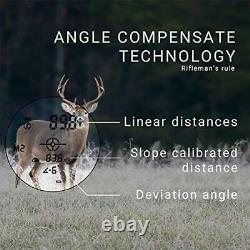 AILEMON 6X Laser Range Finder Rechargeable for Hunting Bow Rangefinder Distan
