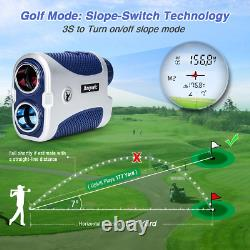 Anyork Golf Hunting Rangefinder 1500yards, 6X Laser Range Finder with Slope On