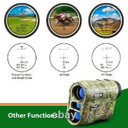 BOBLOV 6.5X 1000m Golf Laser Range Finder Hunting Telescope Flag-Lock USB Charge
