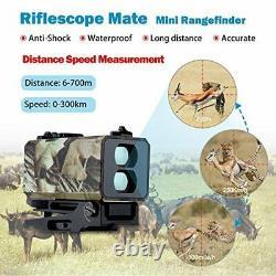BOBLOV Mini Laser Rangefinder Rifle Scope Mate Hunting Bow-700yard Archey Mode