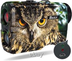 BOZILY Hunting Laser Range Finder Golf 1500 Yards, Wild Coma Archery Water with