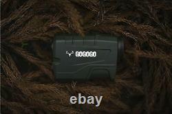 Gogogo Sport 1200 Yards Laser Range Finder, Hunting with Flagpole Lock Rang