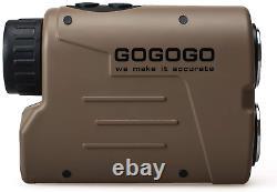 Gogogo Sport Laser Golf & Hunting Rangefinder 1200 Yards 6X Magnification Laser
