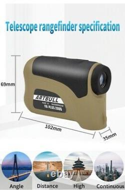 Golf & Hunting Laser Range Finder 1200YD, 1600YD & 2000YD Larger Field of View
