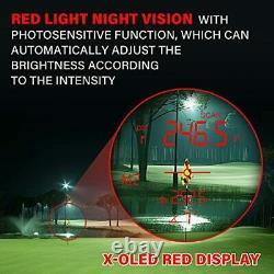 Golf Range Finder 1500 Yards Laser Rangefinder Hunting with Red/Black