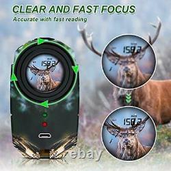 Hunting Laser Range Finder Golf 1500 Yards, Wild Coma Archery