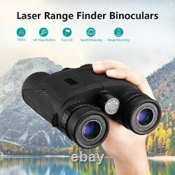 Laser 10x42 1500M Distance Rangefinder Binoculars Support Flag Lock For Hunting