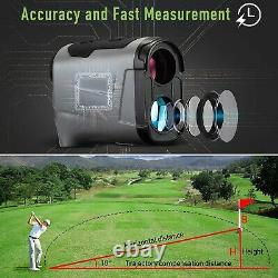 Laser Range Finder Riflescope Rifle Scope Hunting Distance Measurement 800 Yard