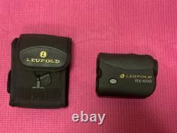 Leupold RX-600 Rangefinder 6X 23 mm Laser Range Finder RD03767U with 2x batteries