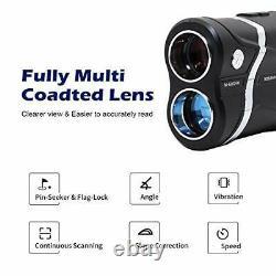 MOESAPU Laser Rangefinder for Golf Hunting Range Finder with Slope Flag-Lock