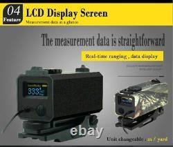 Mini Laser Range Finder Rangefinder for Hunting Shooting Distance Speed Measurer