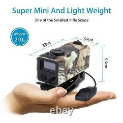 Mini Tactical Rifle Scope Laser Hunting Range Finder Sight Distance Meter 700m