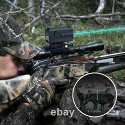 Mini Tactical Rifle Scope Laser Hunting Range Finder Sight Distance Meter 800m
