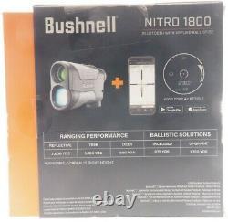 NEW Bushnell Nitro 1800 Laser Rangefinder, 6x24mm, Gun Metal Gray, LN1800IGG