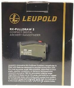 NEW Leupold RX-Fulldraw 3 with DNA Laser Rangefinder FREE SHIPPING