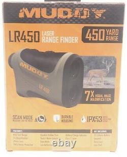 NEW MUDDY MUD-LR450 Tan 450 Yard 7x24mm Laser Range Finder Free Shipping