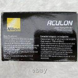 Nikon Aculon AL11 Laser Rangefinder Black Dark Green Hunting Golf Scope New