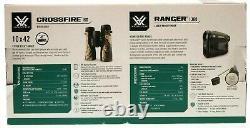 RANGER 1300 LASER RANGEFINDER & 10x42 CROSSFIRE HD BINOCULARS VORTEX COMBO