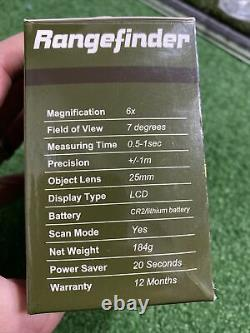 Rangefinder Laser Shot For Golf / Hunting / Archery And Adventure