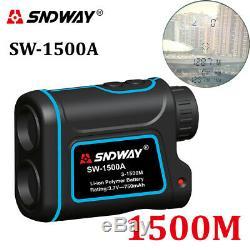 SNDWAY Digital Laser Rangefinder Hunting Monocular Telescope 1500M Astronomic