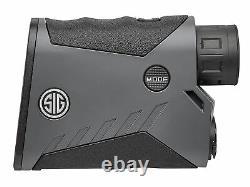 Sig Sauer KILO1000 5X20mm Monocular Laser Rangefinder, Class 1M Black