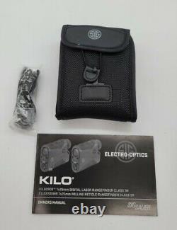 Sig Sauer KILO2200MR 7x25mm Laser Range Finding Monocular Graphite