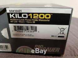Sig Sauer KILO 1200 4x20mm Digital Laser Rangefinder, Black SOK12401