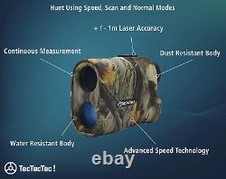 TecTecTec ProWild Hunting Rangefinder 6x24 Laser Range Finder for Hunting with