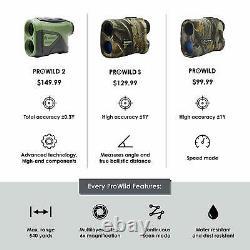 TecTecTec ProWild Hunting Rangefinder Laser Range Finder for Hunting