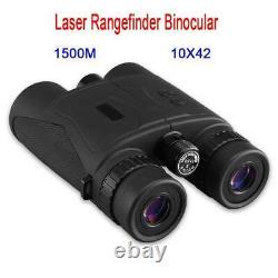 1500m Force Télémètre Laser Binocular 10x42 Chasse Golf Télémètre Telescope