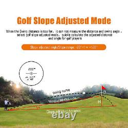 650 Yards Hunting Golf Laser Range Finder Withflag-lock Vibration 6x Grossissement