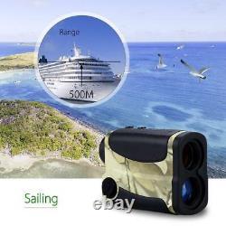 6x 1000yd Laser Range Finder Golf Hunting Meter Speed Measurer Flagpole Bro