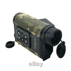 6x Chasse Binocular Télémètre Laser Numérique De Vision Nocturne Ir Nv Telescope Os1