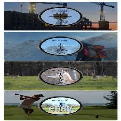 6x Magnification Laser Golf Range Finder 1500m Rangefinder Hunting Telescope Nouveau