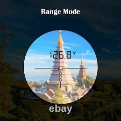 6x Magnification Laser Range Finder 650yards Rangefinder Chasse Archery Golf
