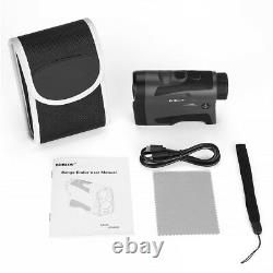 6x Optique 6-1000m Chasse Golf Laser Rangefinder Distance Et Vitesse Monoculaire