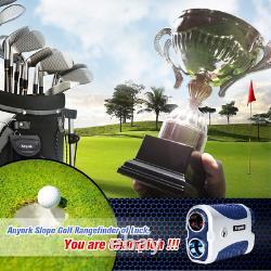 Anyork Golf Hunting Rangefinder 1500yards, 6x Laser Range Finder Avec Slope On