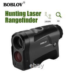 Boblov 1000m Hunting Laser Range Finder 6x Optical Vibration Function Telescope