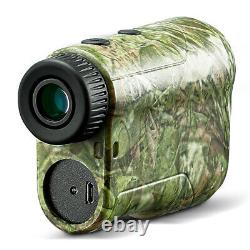 Boblov 6.5x 1000m Golf Laser Range Finder Chasse Téléscope Flag-lock Charge Usb