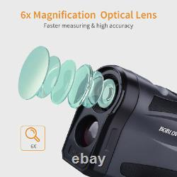 Boblov Laser Range Finder 6x22 Optical Monocular Distance & Speed Telescope