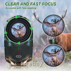 Bozily Chasse Laser Range Finder Golf 1500 Yards, Wild Coma Archery Eau Avec