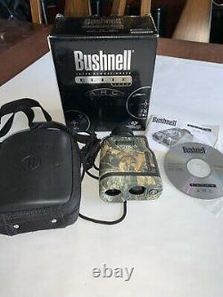 Bushnell Elite 1500 Arc Laser Rangefinder Mossey Oak Hunting 7x26 Waterproof Euc