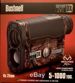 Bushnell Scout DX 1000 Arc Grossissement 6x 1000 Jardin Télémètre Laser, Camo