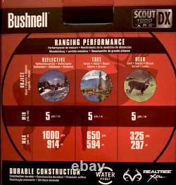 Bushnell Scout DX Télémètre 1000 Arc 6x Grossissement 1000 Yard Laser, Camo