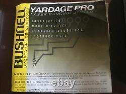 Bushnell Yardage Pro 1000 Laser Rangefinder New Battery Working Golf Hunting